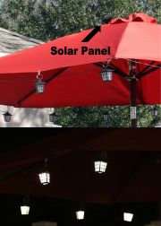 San Rafael Solar Lantern String with 20 LED Lights
