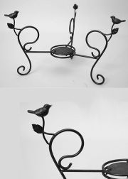 Short Birdbath with Birds