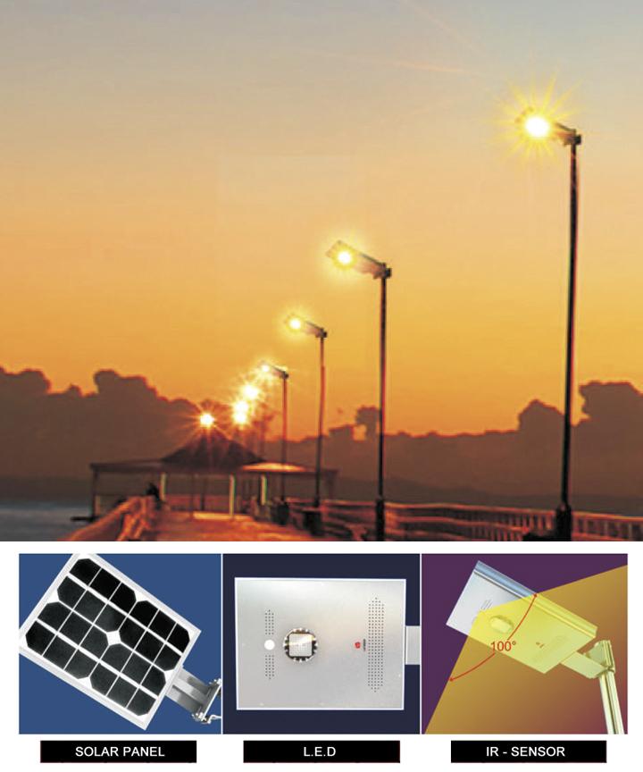 Sky Lite Ir 10w Lamp 25w Panel Solar Lights