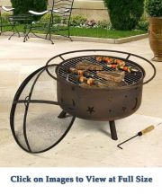 Small Cosmic Fire Pit with Grill
