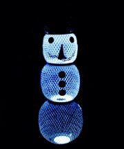 Snowman Mesh Bird Feeder with Solar Light