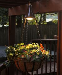 Pair of Hanging Solar Spotlights with Planter Baskets