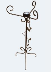 Birdbath Stand with Solar Light