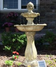 2 Tier Arcade Solar on Demand Fountain with LED Light