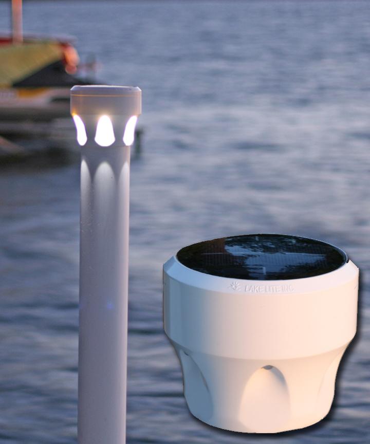 under glow solar dock light, Reel Combo