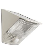 Gray Wedge Motion Activated Solar Security Spotlight