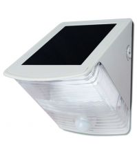 White Wedge Motion Activated Solar Security Spotlight